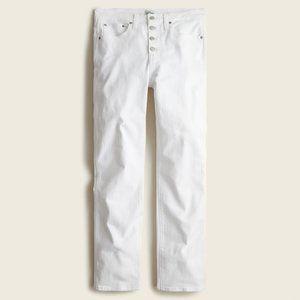 "NWT J. Crew 10"" Vintage Slim Straight Jean in Whit"